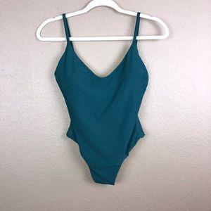 J. Crew Teal One Peice Swim suit Sz 4